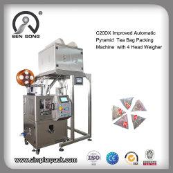 Commerce de gros vertical Housse en nylon entièrement automatique pyramides sachet de thé Machine d'emballage