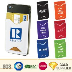 Fashion Factory Price Kundenspezifischer Druck 3 m Silikongummi Ultrathin-Sticker Niedlich Flexible Selbstklebende Geldbörse Kreditkartenhalter für Smartphone