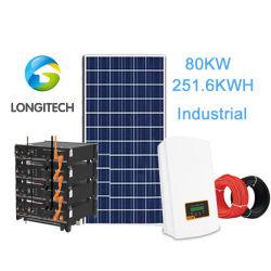 De 80 kw Industrial Sistema de energía solar híbrida de las baterías de litio micro sistema Grid Solution
