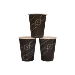 كوب ورقي ساخن سعة 12 أونصة مطبوع عليه شعار الشركة المصنعة للمعدات الأصلية مع أغطية