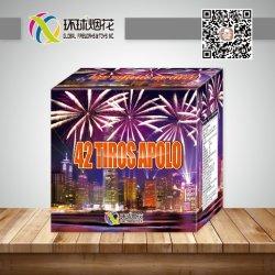 Gfcc30042-42tiros Apolo 1.2inch comerciano i fuochi d'artificio all'ingrosso esterni del cinese di pirotecnica 1.4G della torta del consumatore professionale