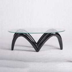 工場直売現代簡単なグループの居間の緩和されたガラスの茶表