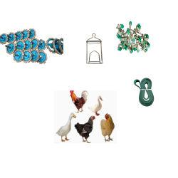 De Sluitingen van de Vervangstukken van de kip haakt de Kettingen die van Hangers vast Toebehoren slachten