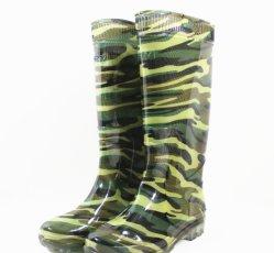 La couleur verte des bottes de pluie Étanche la gomme de chaussures de sécurité