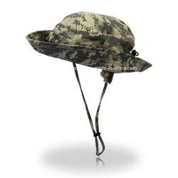 綿の軍の青いCamoの卸し売りバケツの帽子