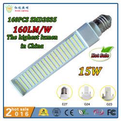 Marcação RoHS listados 15W G23/G24/E27 LED Comercial Lâmpada pl