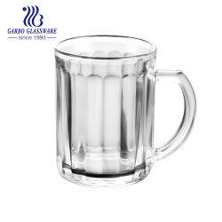 Tazza di tè di vetro della tazza 320ml del caffè puro con la maniglia (GB094413H)