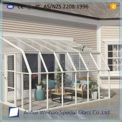 Spessore personalizzato libero di vetro Tempered di sicurezza del Greenroom