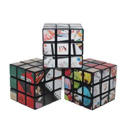 3 по 3 рекламных печатных фото Magic Cube с вашим логотипом