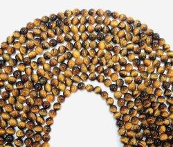Natürliche gelbe Tiger-Augen-Stein-Raupen für die Form-Schmucksache-Schmucksachen, die alle Größe Available8mm bilden