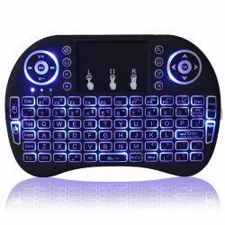 2.4G I8 Teclado inalámbrico con retroiluminación Mini-Board tailandés Mini-Keypad mano