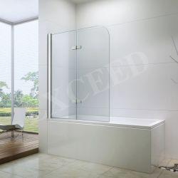 Casa de banho com duche de dobradiça da porta de vidro temperado o vidro da porta para duche Banheira com chuveiro de vidro (ex-209)