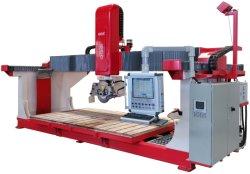5 Mittellinien-Steinausschnitt-Fräsmaschine mit Italien-Software und Befestigungsteile CNC Hualong