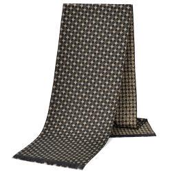 Heren Fashion Cashmere Sjaal Double Tone Jacquard Knitting Gentlemen Winter Business sjaal aanpasbaar met logo