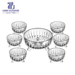 7pcs de vajilla de almacenamiento de alimentos frutas ensalada tazón de vidrio (TZ716011GB YH)