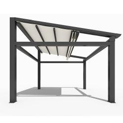 Затенения Canvas под действием электропривода складной тент крыши с водонепроницаемая ткань