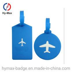 로고 디자인 소프트 고무/플라스틱 여행용 가방 맞춤 이름 태그 항공사 여행자 개인 맞춤형 선물 수하물 태그