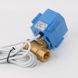 """DN15 1/2の""""小型真鍮のガスはファンコイルの単位のための切断の球弁のモーターを備えられた弁にモーターを備えた"""
