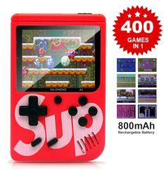 Sup Game Box 400 게임 향수를 불러일으키는 휴대용 미니 핸드헬드 게임 콘솔 3.0인치 키즈 게임 플레이어