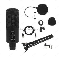 Micrófono de condensador USB juegos Tablet Kit de cable de micrófono de condensador de estudio de grabación para el equipo de micrófonos y Conferencia Vremote Micrófono Boom