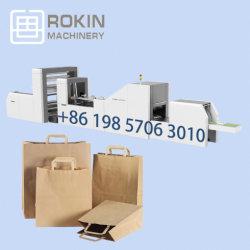 Eco Friendly Die Cut poignée d'impression personnalisé Sac en papier kraft de la machine de recyclage