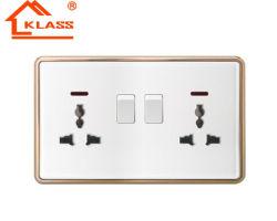 BS 2 токопроводящей дорожки 13универсального Двухполюсный выключатель электрической розетке