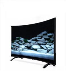 Fabrik-heiße verkaufende grosse Größe 55 Zoll gebogener LED-Fernsehapparat-Bildschirm-Fernsehen 4K intelligenter Fernsehapparat