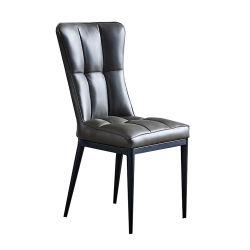 Französisch Schwarz Leder gepolsterte moderne Esszimmer Stuhl für Restaurant Großhandel Retro Accent Wohnzimmer Kaffee Hotel Wanne PU Leder Essstuhl