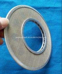 304 /316 néerlandais de l'armure du filtre à huile en acier inoxydable disc Disque filtrant double couche pour l'industrie du pétrole