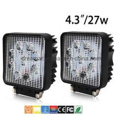 4.3Inch 27W Squar PI68 2700lm LED Epistar para Luz de Trabalho para Caminhões/moto/UTV/Offroad