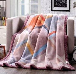 簡易性の極度の柔らかく暖かいスリープの状態であることのための格子縞によって模造される北極の羊毛毛布の投球