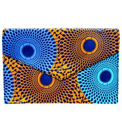 Borsa africana di Ankara Kitenge di stile del sacchetto della stampa della spalla della tela di canapa della polvere di 2019 abitudini per le donne