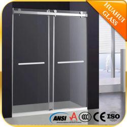 El cuarto de baño ducha deslizante de derivación de vidrio templado Mampara ducha puertas Alojamiento