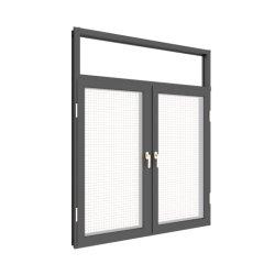 工場製造業者のグリルデザインアルミニウム日除けの弓湾の蚊帳が付いているフランスの開き窓の振動Windows