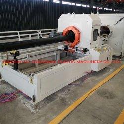 En PEHD en plastique à haute efficacité/LDPE extrudeuse du tuyau de la machine avec moteur 90kw et de la capacité de 400kg/h