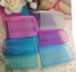 In het groot 1/8 Duim aan Stevige Kleur van het Af:drukken van de Douane van 4 Duim de Chinese Al Lint van het Satijn van Organza van de Kleur voor de Verpakking van de Gift