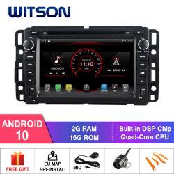 نظام تحديد المواقع العالمي (GPS) لراديو السيارة Wittson Quad-Core Android 10 للسيارة GMC نظام صوت الوسائط المتعددة