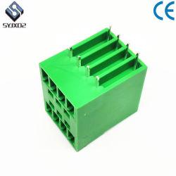 7pin DIN Rail Pluggable resorte del bloque de terminales de doble capa de 3,81mm bloques de cableado
