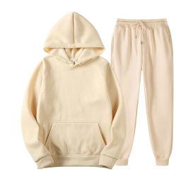 Señoras y Menstracksuit establecido para la mujer traje de Jogging encapuchados Logotipo personalizado Unisex Sweatsuit Set
