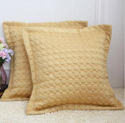 공장 판매 새틴 직물 럭셔리 골든 유럽 대형 베개 쿠션 홈텍스타일 침구용 도매
