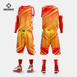 Kundenspezifische Druck-Basketball-konstanter Sublimation-Basketball-Jersey-kurze Sportkleidung