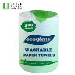 Ulive Waschbar Saugfähig 300 Blatt Küchenpapier Handtuch