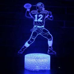Футбол серия Creative подарком красочные 3D светодиодный светильник в 3D настольная лампа светодиодная лампа 3D