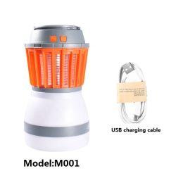Impermeable al aire libre Viajes recargables USB Lámpara de Camping Mosquito asesino con la energía solar