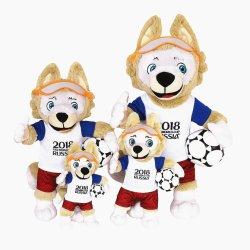 ワールドカップの柔らかい詰められたプラシ天のカスタムオリンピックマスコットのギフトのおもちゃ