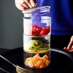 Стеклянный кувшин высокого боросиликатного стаканы стеклянные бутылки стеклянные Pot кухне продукты