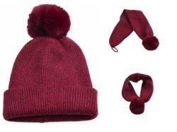 Beanie acrilico in bianco del cappello del Pompom di BSCI Due--Un in sciarpa