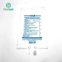 كيس انصهار PVC طبي لمرة واحدة من الفئة الرابعة 500 مل مع كيس واحد الأنبوب