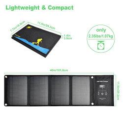 Браво28W портативное зарядное устройство солнечной энергии Складная солнечная энергия с зарядкой через USB выход