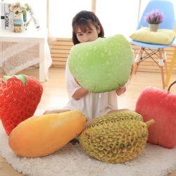 Frucht-Kissen-Plüsch-Erdbeere-Mangofruchtdurian-Apple-Kissen der Simulations-3D